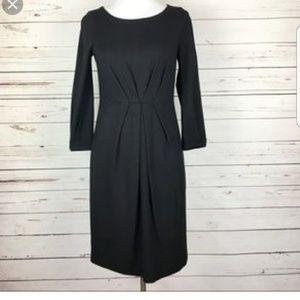 THEORY LUANN_DOWNTOWN BLACK DRESS L